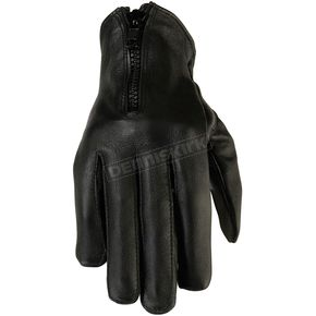 Z1R Womens Black 7mm Leather Gloves - 3302-0484