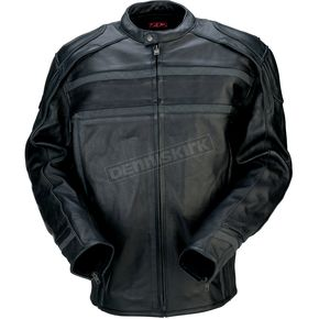 Z1R Black 444 Leather Jacket - 2810-2771