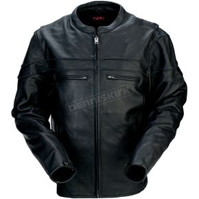 Z1R Black 45 Leather Jacket - 2810-2783