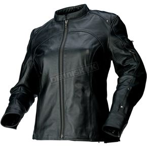Z1R Womens Black 243 Leather Jacket - 2813-0606