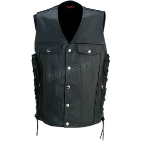 Z1R Black 30-30 Leather Vest - 2830-0347