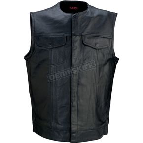 Z1R Black 338 Leather Vest - 2830-0355
