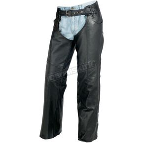 Z1R Black Carbine Leather Chaps - 2830-0362