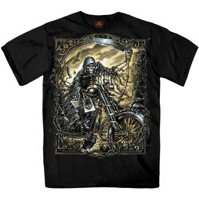 Hot Leathers Black Reaper Chopper T-Shirt - GMS1304M