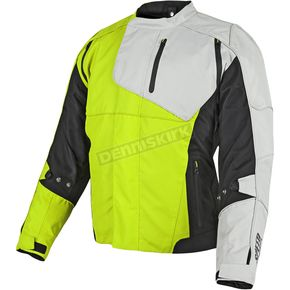 Speed and Strength Hi-Vis/Black/White Lock & Load Textile Jacket - 87-8850