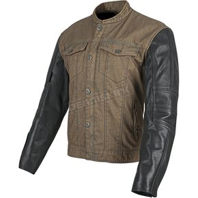 Speed and Strength Brown/Black Band of Brothers Leather and Denim Jacket - 87-8859