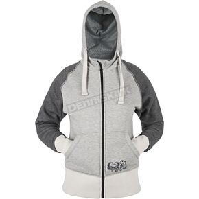 Speed and Strength Womens Grey American Beauty Armored Hoody - 87-8906