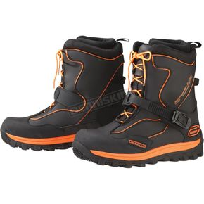 Arctiva Black/Orange Comp Boots - 3420-0558