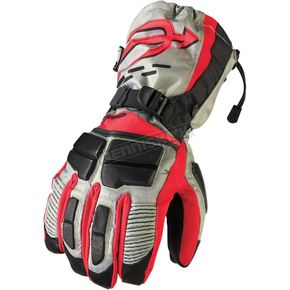 Arctiva Gray/Black/Red Comp Gloves - 3340-0976