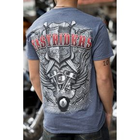 Easyriders Roadware Blue Diamond Shield T-Shirt - 4215XL