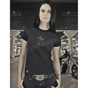 Parker Synergies Womens Black Fury T-Shirt - 54-7119