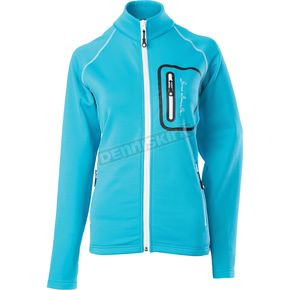 Divas Snowgear Womens Aqua Blue Performance Fleece - 97155