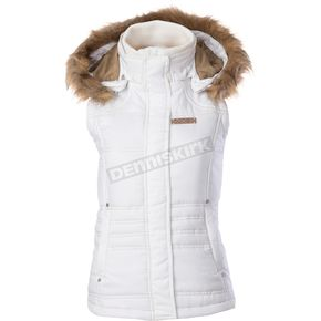 Divas Snowgear Womens White Hooded Vest - 97171