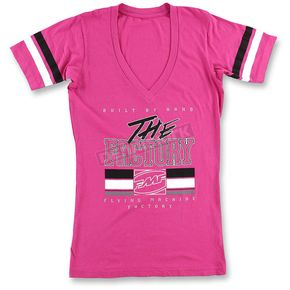 FMF Women's Pink Factory Girl T-Shirt - SP6418903PNKL