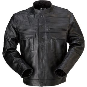 Black Leather Deagle Jacket