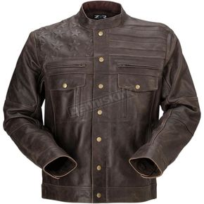 Brown Leather Deagle Jacket