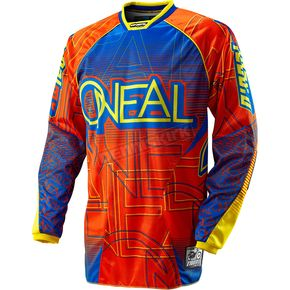 O'Neal Orange/Blue Hardwear Mixxer Jersey - 0077