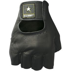 Power-Trip Black U.S. Army Leather Sniper Gloves - 0706-5002