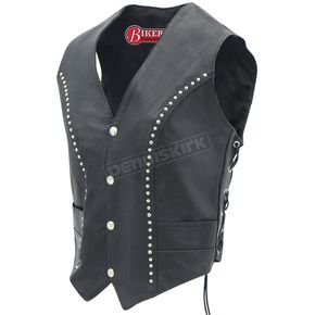 Mustang Womens Studded Leather Vest - 17838