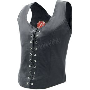 Mustang Womens Lace-Up Leather Vest - 15653