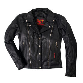 Hot Leathers Womens Studded Leather Jacket - JKL1018L