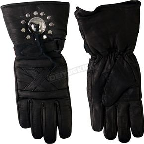 Hot Leathers Leather Gauntlet Gloves - GVM1010L
