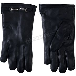 Hot Leathers Womens Black Leather Driving Gloves - GVL1003L