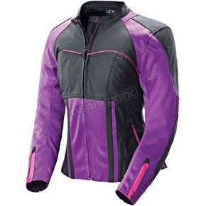 Joe Rocket Womens Purple/Black Radar Jacket - 1240-1902