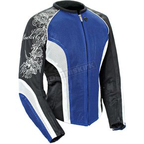 Joe Rocket Womens Blue/White/Black Cleo 2.2 Jacket - 1250-0203