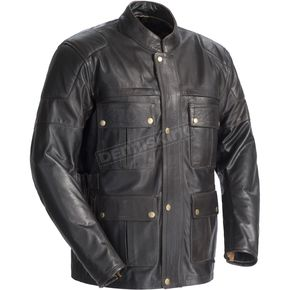 Tour Master Lawndale Black Leather Jacket - 8726-0105-06