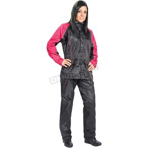 Womens Black/Pink RS-2 2-Piece Rainsuit