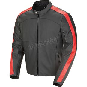 Joe Rocket Black/Red Speedway Leather Jacket - 1320-1106