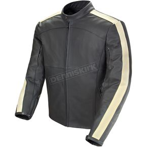 Joe Rocket Black/Ivory Speedway Leather Jacket - 1320-2006