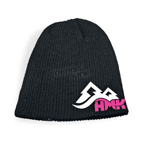 HMK Womens Black/Pink Jewel Beanie - HM5JEWELP