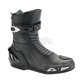 Joe Rocket Black Super Street RX14 Leather Boots - 1427-0095