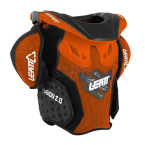 Leatt Youth Orange/Black Fusion 2.0 Neck Brace/Torso Protector - 1014010006