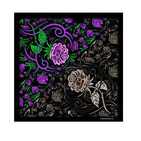 Hot Leathers Tribal Rose Bandana - BAB1001