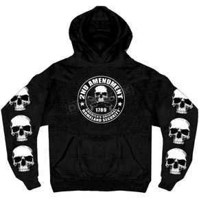 Hot Leathers Black 2nd Amendment Pullover Hoody - GMS4200XXL