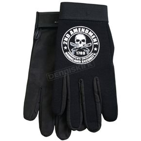 Hot Leathers Black Mechanic 2nd Amendment Gloves - GVM2013XL