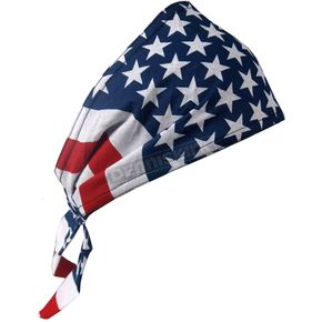 Hot Leathers American Flag Old School Bandana - HWS2002