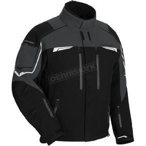 Fieldsheer Black/Gunmetal Diamond Plate Snowmobile Jacket - 6401-1407-04