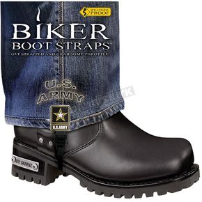 Biker Boot Straps 4 in. Womens U.S. Army Boot Straps - BBS-UA4