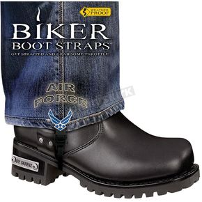Biker Boot Straps 4 in. Womens Air Force Boot Straps - BBS-AF4