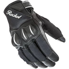 Joe Rocket Womens Matte Black Cyntek Gloves - 1553-1004
