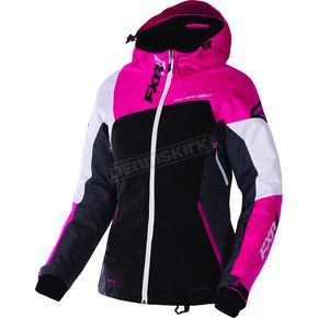 FXR Racing Women's Black/Charcoal/Fuchsia/White Tri Vertical Edge Jacket - 170211-1008-12