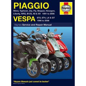 Haynes Piaggio and Vespa Scooters 1991-2006 Manual - 0100-0822
