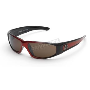 Red Silver Cross V-11 V-Twin Fashion Sunglasses - V-11RD/SC/BR