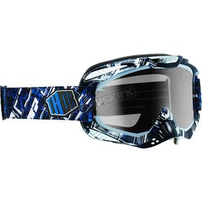 Thor White/Black/Blue Block Ally Goggles - 2601-1724