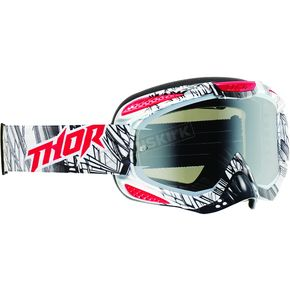 Thor White/Black/Red Urban Ally Goggles - 2601-1726