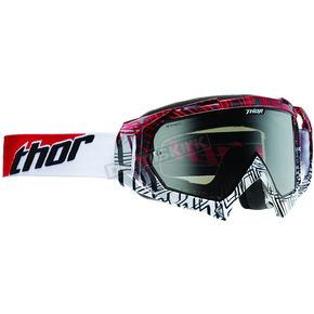 Thor White/Red/Black Rectangle Hero Goggles - 2601-1730